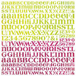BasicGrey - Lemonade Collection - 12 x 12 Alphabet Stickers