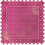 BasicGrey - Lemonade Collection - Doilies - 12 x 12 Die Cut Paper - Swiss Dot - Berry