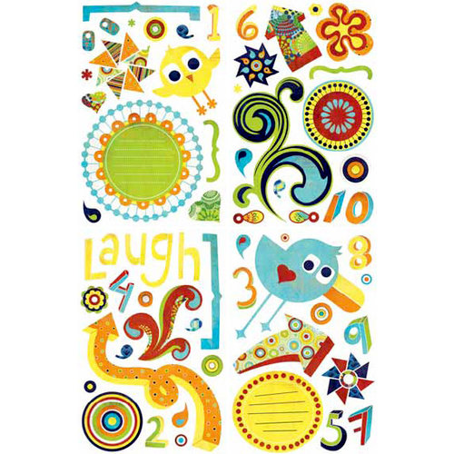 BasicGrey - Lime Rickey Collection - Adhesive Chipboard - Shapes, BRAND NEW