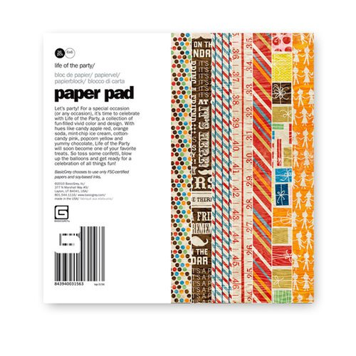 BasicGrey - Life of the Party Collection - 6 x 6 Paper Pad