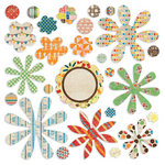 BasicGrey - Life of the Party Collection - Petals - Die Cut Cardstock and Canvas Pieces