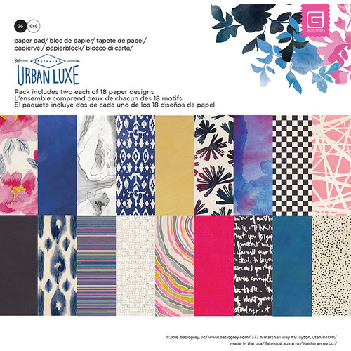 BasicGrey - Urban Luxe Collection - 6 x 6 Paper Pad