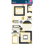 BasicGrey - Urban Luxe Collection - Cardstock Stickers - Journal