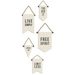 BasicGrey - Urban Luxe Collection - Canvas Pennant Kit
