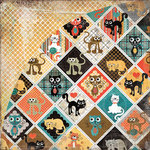 BasicGrey - Max and Whiskers Collection - 12 x 12 Double Sided Paper - Sasha, CLEARANCE