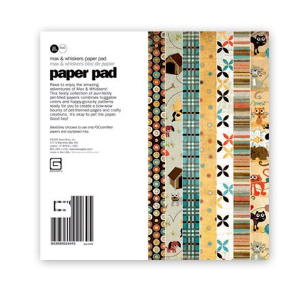 BasicGrey - Max and Whiskers Collection - 6 x 6 Paper Pad, BRAND NEW