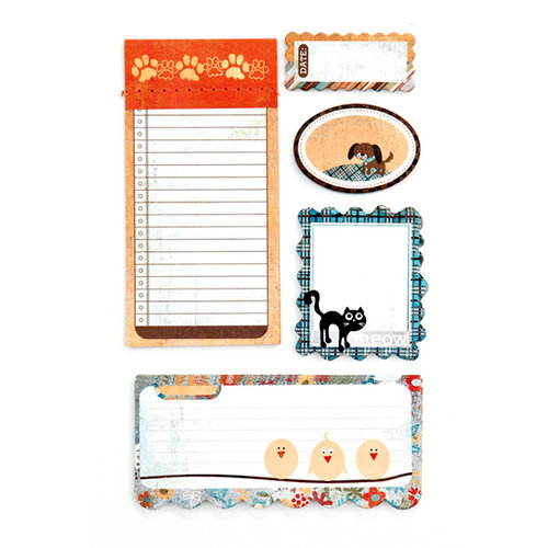 BasicGrey - Max and Whiskers Collection - Writer's Block - Journaling Sets, CLEARANCE