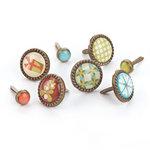 BasicGrey - Jovial Collection - Glazed Brads