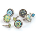 BasicGrey - Marjolaine Collection - Glazed Brads