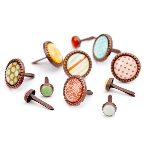 BasicGrey - Hopscotch Collection - Glazed Brads