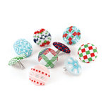 BasicGrey - Nordic Holiday Collection - Christmas - Stitched Brads