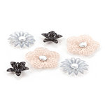 BasicGrey - Little Black Dress Collection - Metal Flowers
