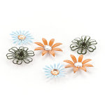 BasicGrey - Picadilly Collection - Metal Flowers