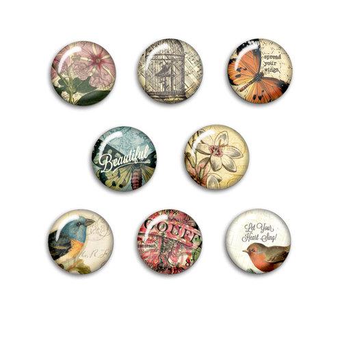 BasicGrey - Serenade Collection - Flair - 8 Adhesive Badges