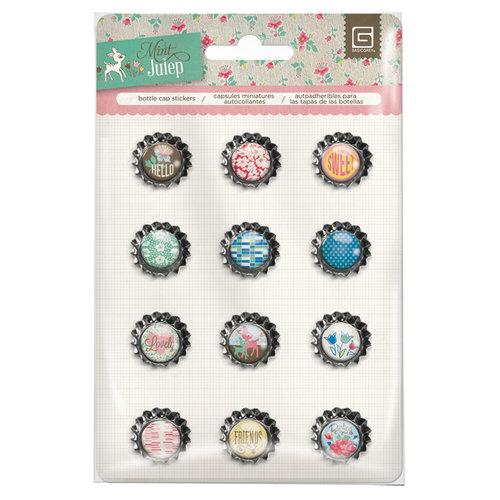 BasicGrey - Mint Julep Collection - Bottle Cap Stickers
