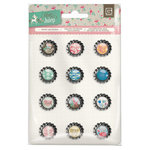 BasicGrey - Mint Julep Collection - Bottle Cap Stickers