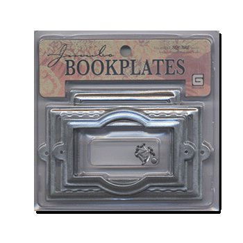 BasicGrey Jumbo Book Plates - Square - Pewter, CLEARANCE