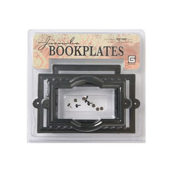 BasicGrey Jumbo Book Plates - Square - Black, CLEARANCE