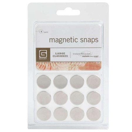 BasicGrey - Magnetic Snaps - Closures - Large - Round
