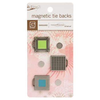 BasicGrey - Magnetic Tie Backs - Square, CLEARANCE