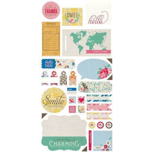 BasicGrey - Mint Julep Collection - Cardstock Stickers - Titles