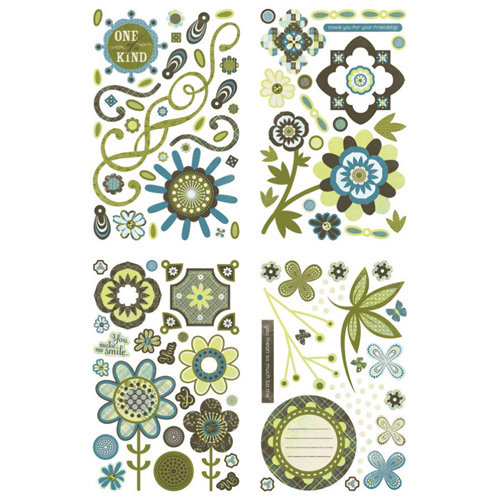 BasicGrey - Marjolaine Collection - Adhesive Chipboard - Shapes