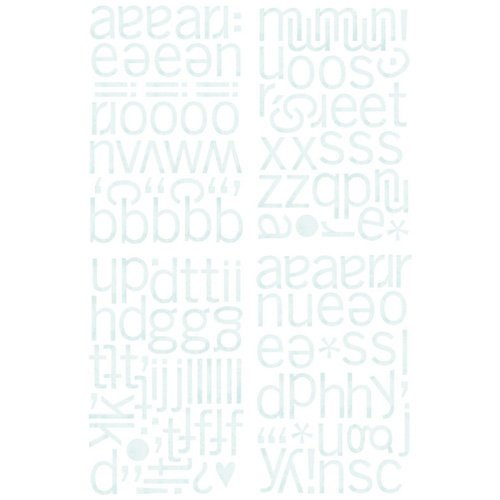 BasicGrey - Marjolaine Collection - Adhesive Chipboard - Alphabet