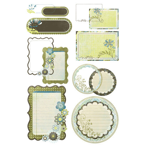 BasicGrey - Marjolaine Collection - Take Note Journaling Cards with Transparencies
