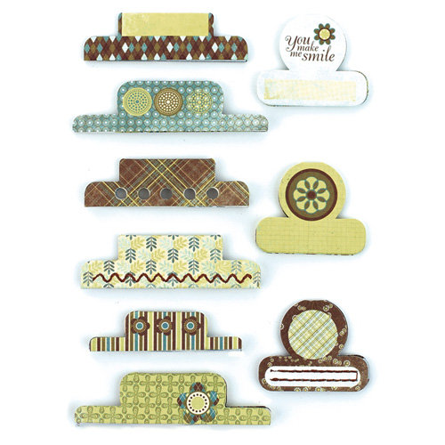 BasicGrey - Marjolaine Collection - Office Tabs - Self Adhesive Paper Labels