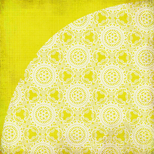 BasicGrey - Nook and Pantry Collection - 12 x 12 Double Sided Paper - Lemon Meringue Pie, CLEARANCE