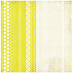 BasicGrey - Nook and Pantry Collection - Doilies - 12 x 12 Die Cut Paper - Yellow and Cream, CLEARANCE