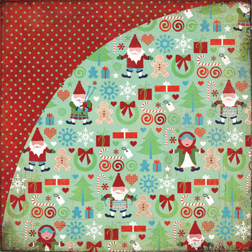 BasicGrey - Nordic Holiday Collection - Christmas - 12 x 12 Double Sided Paper - Catching Air