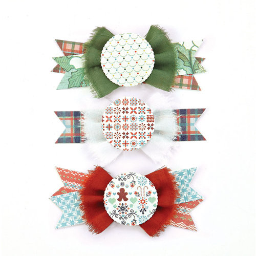 BasicGrey - Nordic Holiday Collection - Christmas - Layered Stickers - Bowties