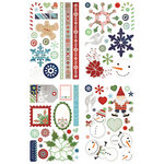 BasicGrey - Nordic Holiday Collection - Christmas - Adhesive Glitter Chipboard - Shapes