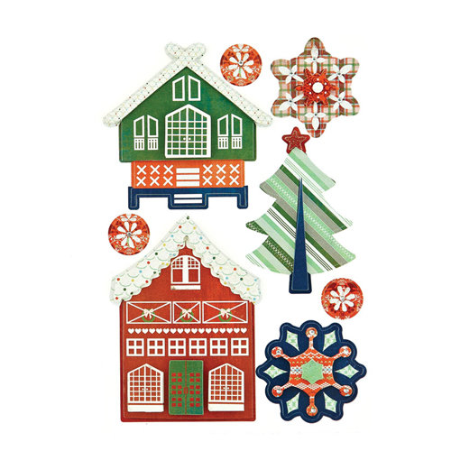 BasicGrey - Nordic Holiday Collection - Christmas - Layered Stickers