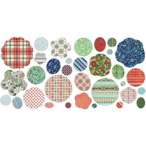 BasicGrey - Nordic Holiday Collection - Christmas - Die Cut Cardstock and Canvas Pieces - Flowers