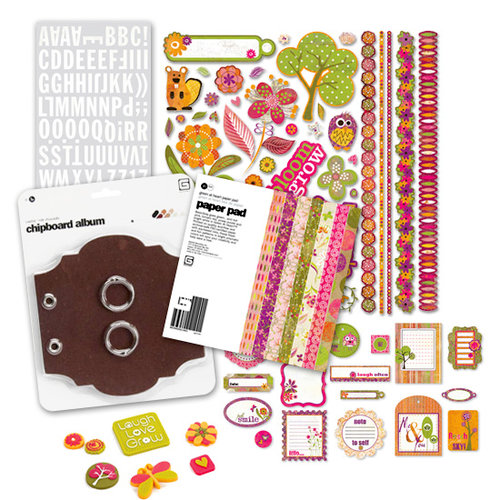 BasicGrey - Green at Heart Collection - Mini Album Kit - What I Love about You, CLEARANCE