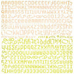 BasicGrey - Offbeat Collection - 12x12 Alphabet Stickers, CLEARANCE