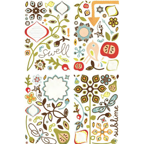 Basic Grey - Offbeat Collection - Adhesive Chipboard - Shapes