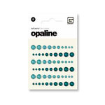 BasicGrey - Opaline Collecrtion - Pearls - Individual Half Pearls - Teal and Aquamarine, CLEARANCE