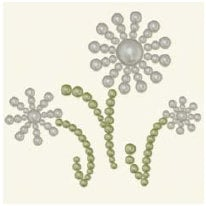 BasicGrey - Opaline Collection - Pearls - Tres Fleur Half Pearls - Pearl, CLEARANCE