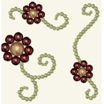 BasicGrey - Opaline Collection - Pearls - Viny Fleur Half Pearls - Grass and Wine