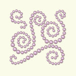 BasicGrey - Opaline Collection - Pearls - Swish Half Pearls - Blush, CLEARANCE