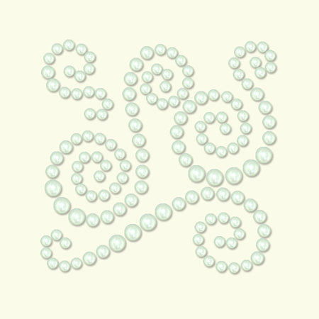 BasicGrey - Opaline Collection - Pearls - Swish Half Pearls - Pearl, CLEARANCE