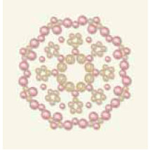BasicGrey - Opaline Collection - Pearls - Calliopsis Half Pearls - Blush, CLEARANCE