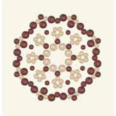 BasicGrey - Opaline Collection - Pearls - Calliopsis Half Pearls - Wine, CLEARANCE