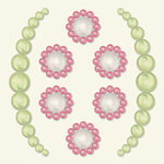 BasicGrey - Opaline Collection - Pearls - Secret Half Pearls - Pink, CLEARANCE