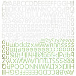 BasicGrey - Origins Collection - 12 x 12 Alphabet Stickers, CLEARANCE