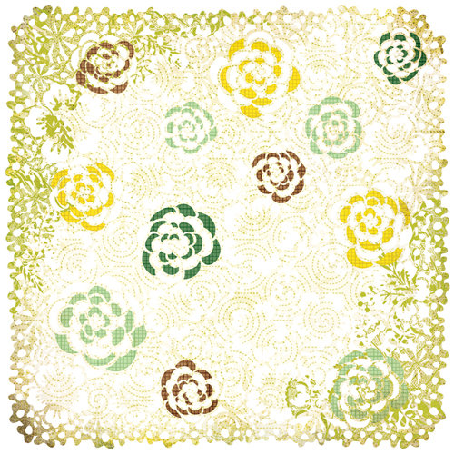 BasicGrey - Origins Collection - Doilies - 12 x 12 Die Cut Paper - White Sweetfields, CLEARANCE