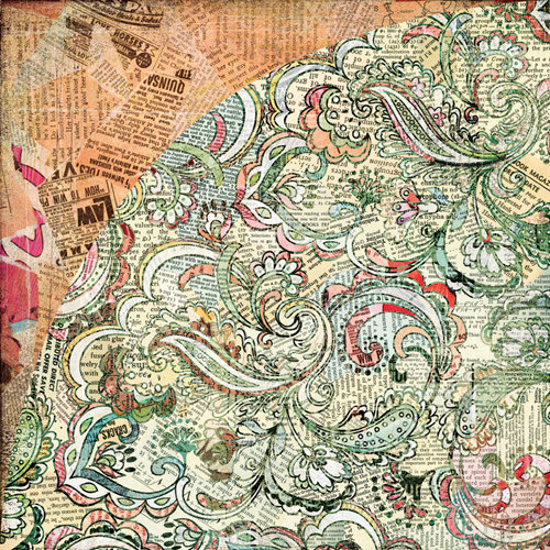 BasicGrey - Out of Print Collection - 12 x 12 Double Sided Paper - Batik
